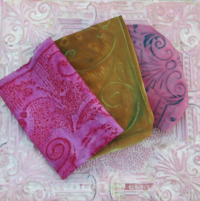 Cottons, Linens and Silks Over Vintage Tins